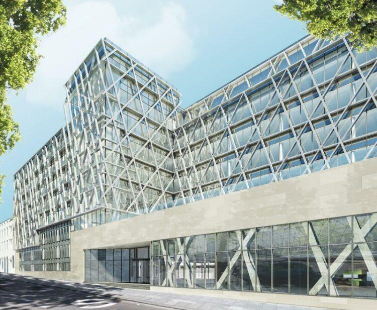 ipasol 69/37 voor het nieuwe hoofdkantoor van AXA te Brussel, Brussel - A2RC