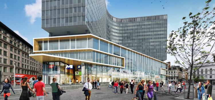 Muntcentrum in Brussel voorzien van zonwerend & isolerend glas Thermobel Stopray Vision-51 & 51T, Brussel - DDS&Partners