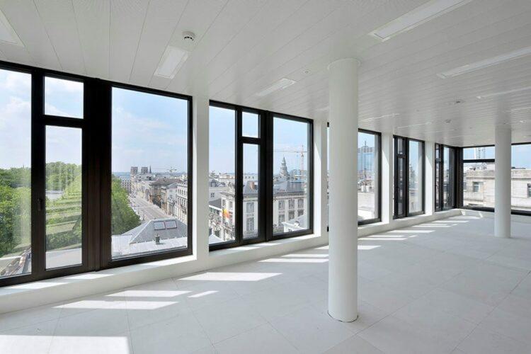 Thermobel ipasol ultraselect 62/29 voor de renovatie van het Regent 35 gebouw te Brussel, Brussel -  Archi 2000